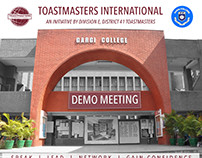 Poster for Gargi College Toastmasters Demo Meeting