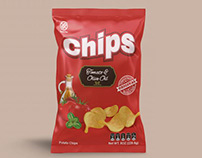 Chips Packaging Mockup PSD Free Download