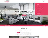 Interior designer website. UI/UX