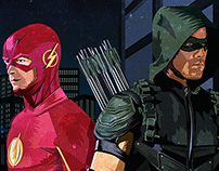 Arrow & The Flash Illustration