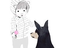 Dog & Kid