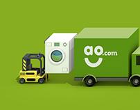Isometric branding - AO.com