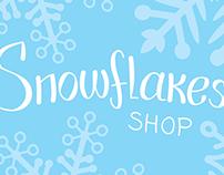 Лого и визитка для  Snowflakes shop