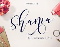 Shania Sweet Calligraphy Modern