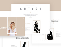 """Artist"" - E-Commerce Template Design Concept"
