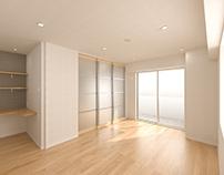 Render : An ordinary room in Tokyo