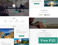 Grapher - Free photographer portfolio PSD template