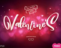 Valentines Free PSD Mockup