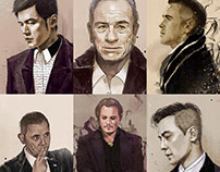 Gentlemen in Chinese painting style
