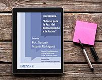 Cartel y flyers electrónicos para conferencia - DAESPSC