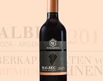 WineGenius - Malbec Wine Label Design & Online Branding