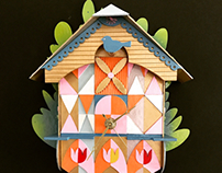 Mary Blair inspired clock