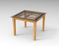 Dining Table-Inspired by Piet Mondrian