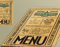 logo and menu for city cafe