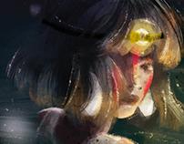 もののけ姫 Mononoke Hime - Fanart