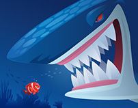 sea animal (vector) illustrations...