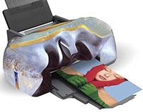 Принтер С. Дали. / Printer S. Dali .