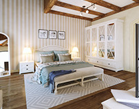 Provence mens bedroom