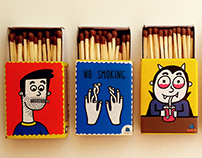 Cool matchboxes with a message :)