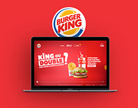 King ou double ? Website for Burger King