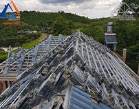 Bảng giá thi công mái nhà trọn gói bằng hệ giàn thép mẹ