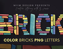 Color Bricks - 3D Lettering