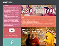 Asia Festival Web Redesign