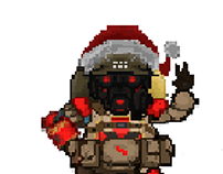 Pixel Art from Gameloft's MCVS character