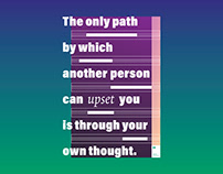The only path by which another person can upset you...