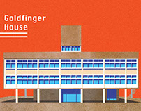 Illustrating the work of brutalist architect Goldfinger