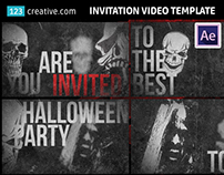 After Effects - Halloween invitation video template
