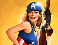 Marvel Comics Pin Up Girls