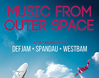 Club Party Flyer • Music From Outer Space