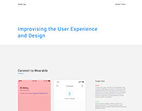 Improvising user experience and design-Health app