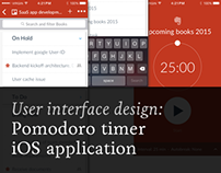 Pomodoro timer iOS application