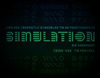 Simulation Typeface