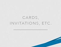 Cards, Invitations, etc.
