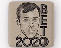 BETO 2020 pin & illustration