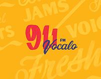 91.1FM Radio Station Identity