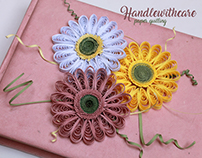 welcome spring, my quilling gerbera