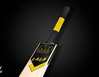Lala Edition Cricket Bat Close up - World of Mock Ups