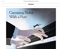 Chopin Cat - NY Times - Society of Illustrators