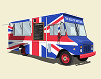 The Best of British Food truck illustration