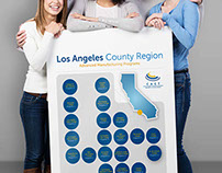 Los Angeles County College Map Poster