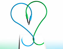 Concept two wires forming a heart