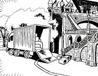 A Little Van by the Castle