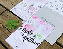 Fun Floral Wedding Invitation & Photography