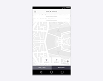 Wireframes for Cab Booking App