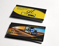 C&J Logistics new design of two-sided business card