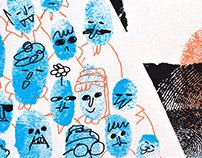 Ought Silkscreen Gig Poster